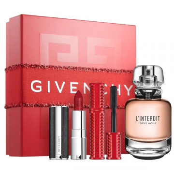 Givenchy L'interdit  Набор (Парфюмированная вода 50 ml + Тушь+lipstikl) (3274872401716)