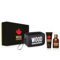 Dsquared2 Wood Pour Homme Набор (Туалетная вода 100 ml +100 Гель для душа +косметичка)