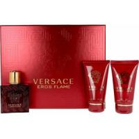 Versace Eros Flame Набор ( Парфюмированная вода 5 ml Миниатюра + Бальзам после бритья 25 ml +Гель для душа 25 ml)