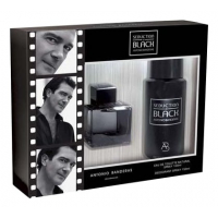 Antonio Banderas Black Seduction Набор (Туалетная вода 100 ml, Дезодорант  150 ml) (8411061876367)