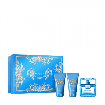 Versace Eau Fraiche Набор (Туалетная вода 50 ml + Гель для душа 50 ml+ Бальзам после бритья 50 ml)  (8011003841981)