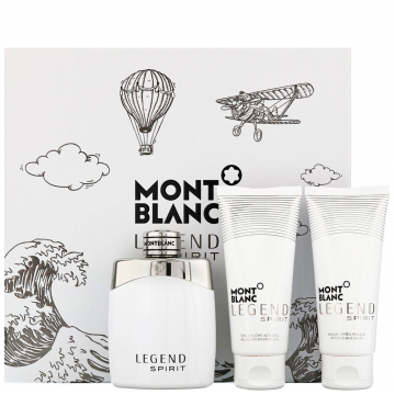 Mont Blanc Legend Spirit Набор (Туалетная вода 100 ml + Гель для душа 100 ml + Лосьон для тела 100 ml) (3386460097802) (3386460083614)