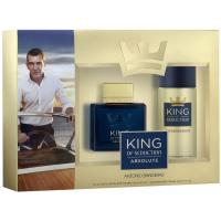 Antonio Banderas King Of Seduction Absolute Набор (Туалетная вода 100 ml + Дезодорант 150 ml)  (8411061834855)