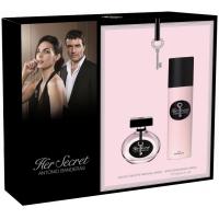 Antonio Banderas Her Secret Набор (Туалетная вода 50 ml + Дезодорант-спрей 150 ml) Примятые  (34043)