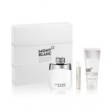 Mont Blanc Legend Spirit Набор (Туалетная вода 100 ml + Туалетная вода 15 ml + Лосьон После Бритья 100 ml) (3386460083621)