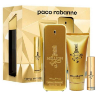 Paco Rabanne One Million Travel Набор (Туалетная вода 100 ml + Гель для душа 75 ml + Туалетная вода 10 ml Mini) (3349668559916)