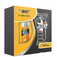 Bic Набор (Flex 3 Hybrid + BIC Comfort Foam Sensitive 75мл)